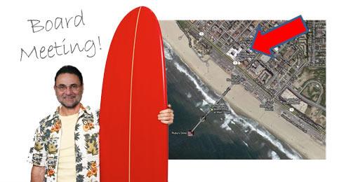 Fred Learner, Surf City USA, Board Meeting | Huntington Beach, CA
