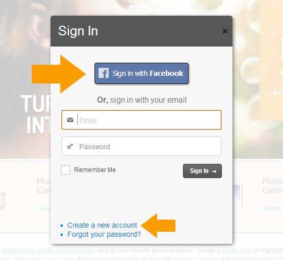 Facebook Sign In